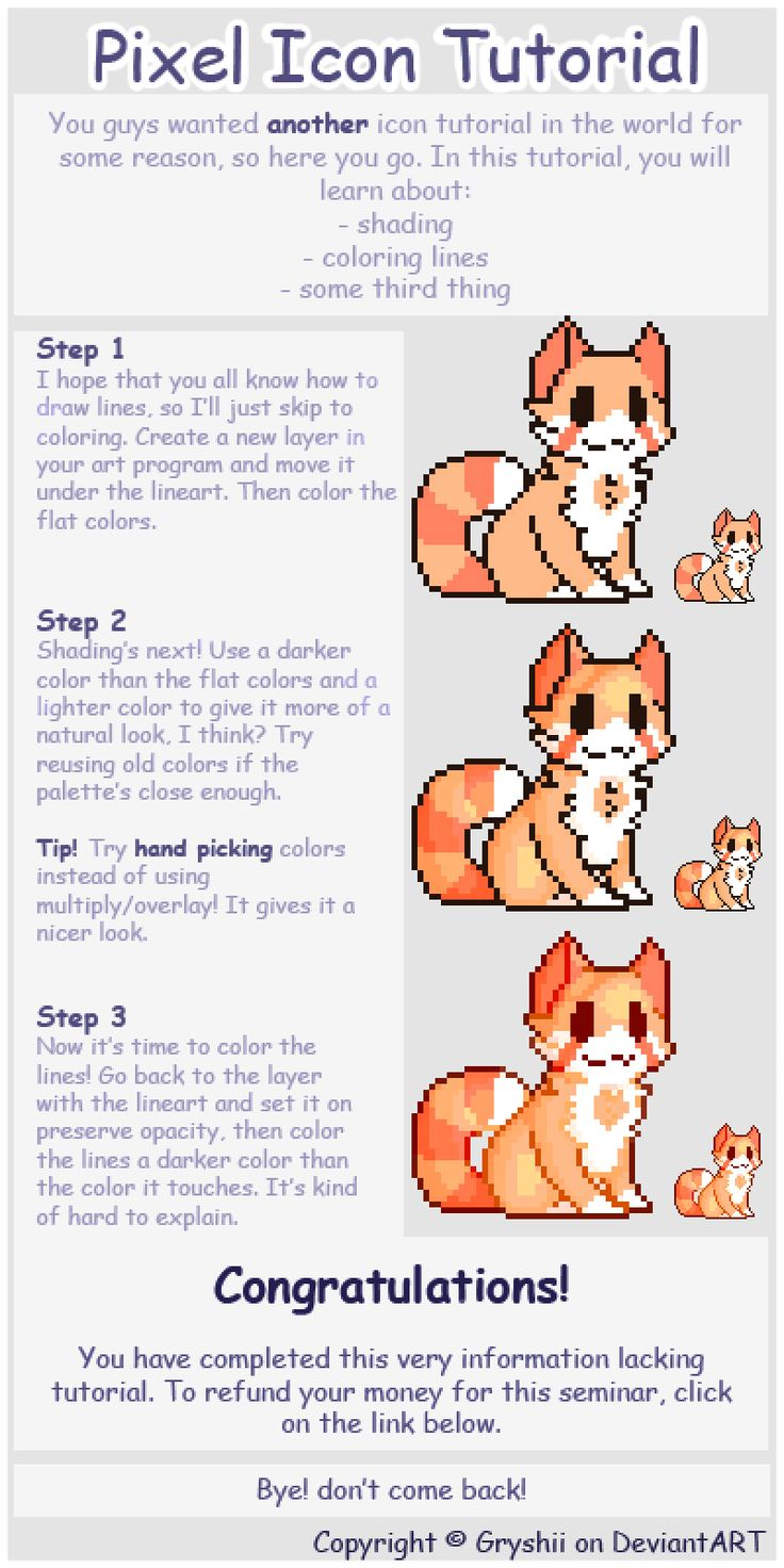 Drawn pixel art hard Deviantart Gryshii ideas Simple Icon