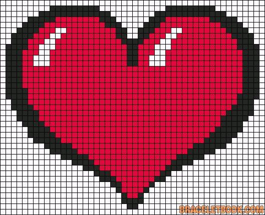 Drawn pixel art heart grid On ideas art Pixel 25+