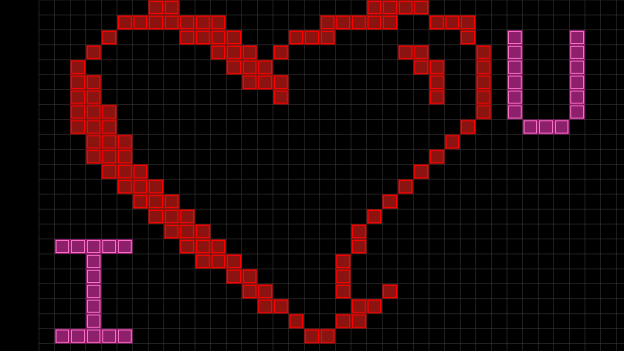 Drawn pixel art heart grid On Android Draw Apps Pixel