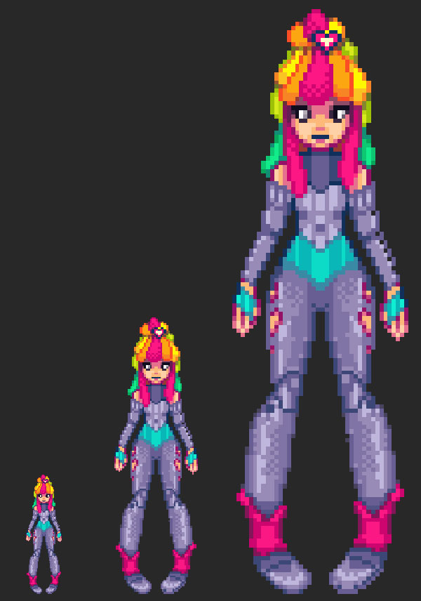 Drawn pixel art illustrator From pixel Sprite Kandi Runner: