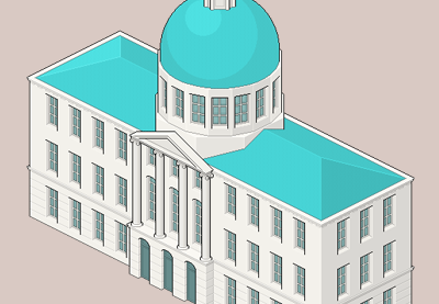 Drawn pixel art illustrator In Hall Create an City
