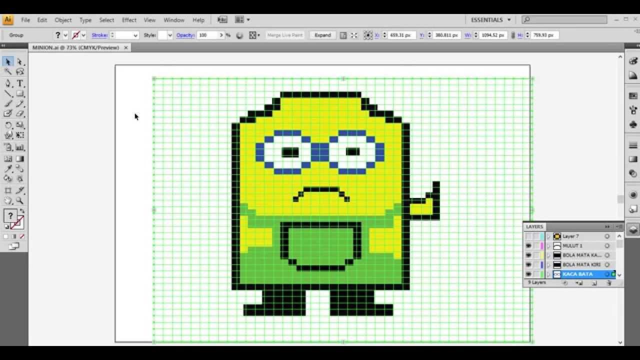 Drawn pixel art illustrator Indonesia YouTube bahasa tutorial membuat