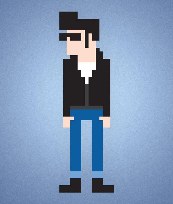 Drawn pixel art illustrator Create To 8 bit How