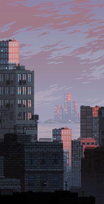 Drawn pixel art iphone On pixel Pixel Cities Best