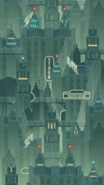 Drawn pixel art iphone Pinterest Bioshock's 25+ Rapture concept