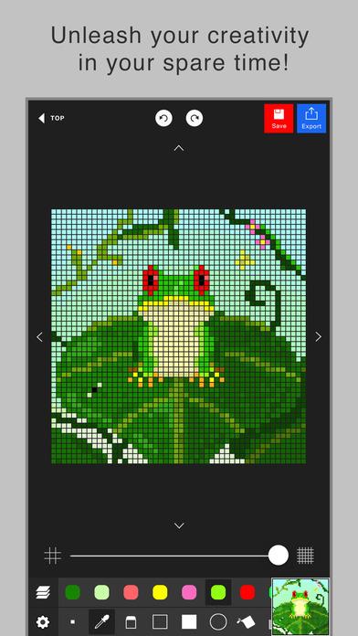 Drawn pixel art iphone The editor iPhone Screenshot Store
