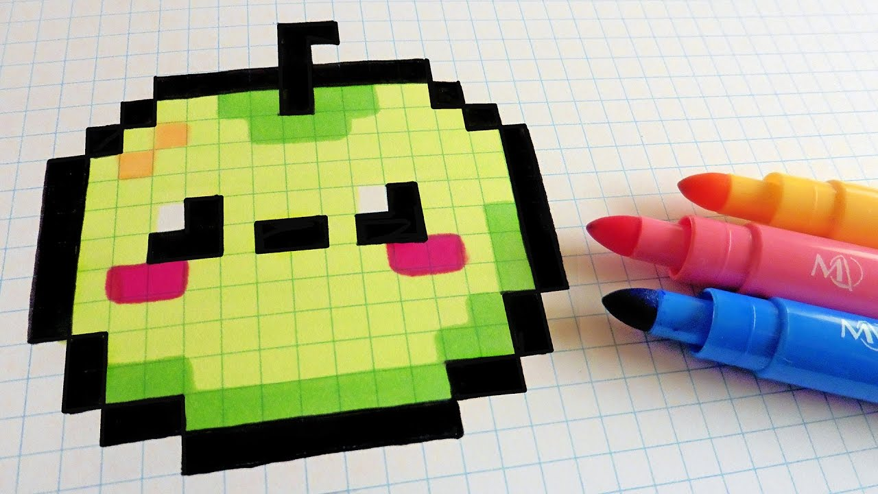 Drawn pixel art kawaii Draw Pixel To Pixel Art