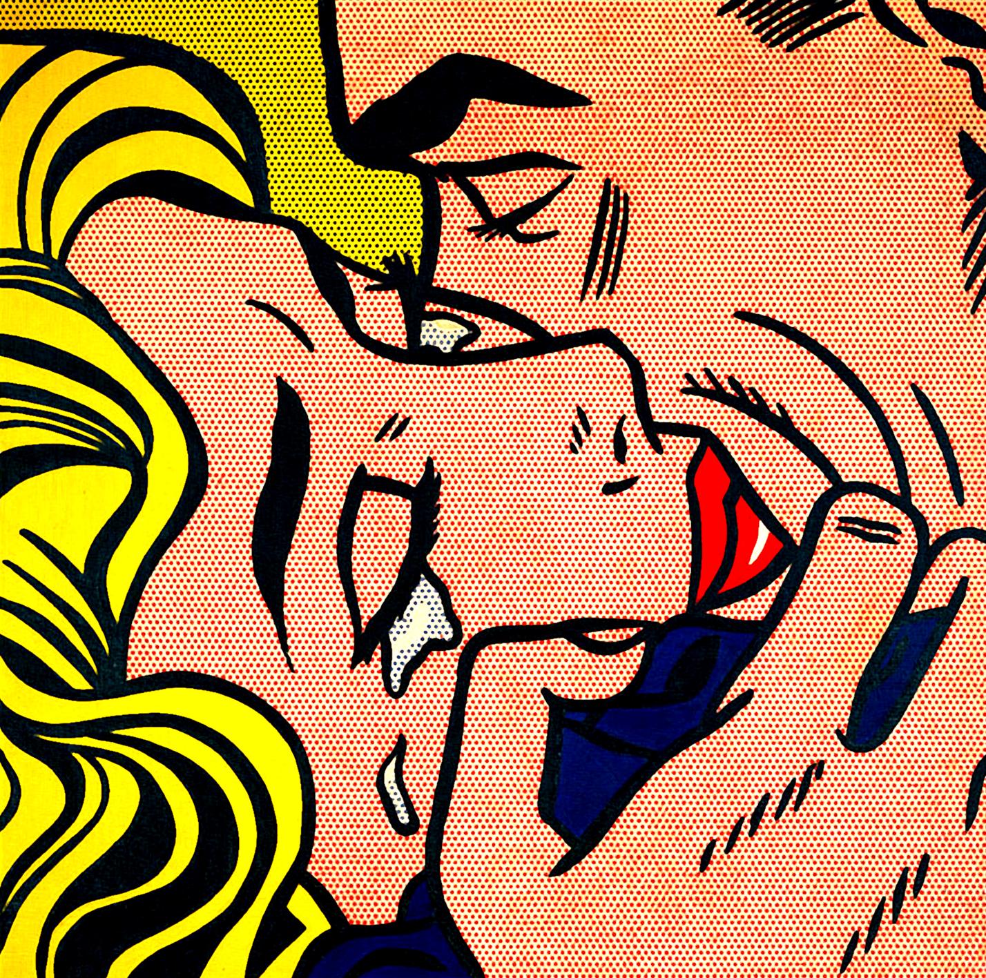 Drawn pixel art kiss #14
