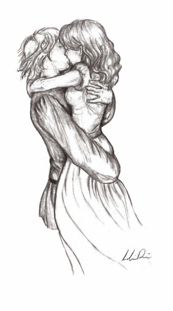 Drawn pixel art kiss #8