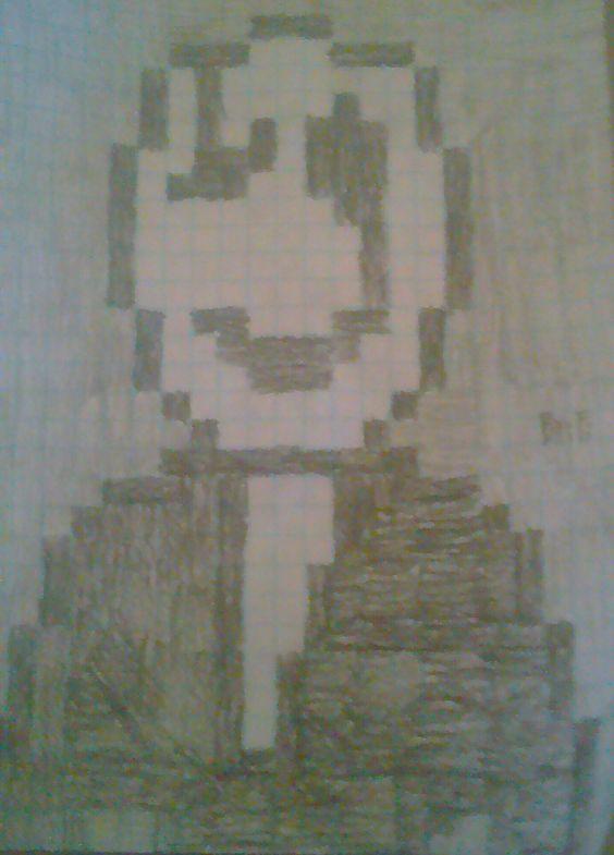 Drawn pixel art logo Drawn pretty first Came Gaster