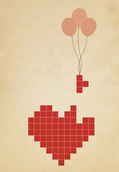 Drawn pixel art love Drawing and Lady Heart Hands