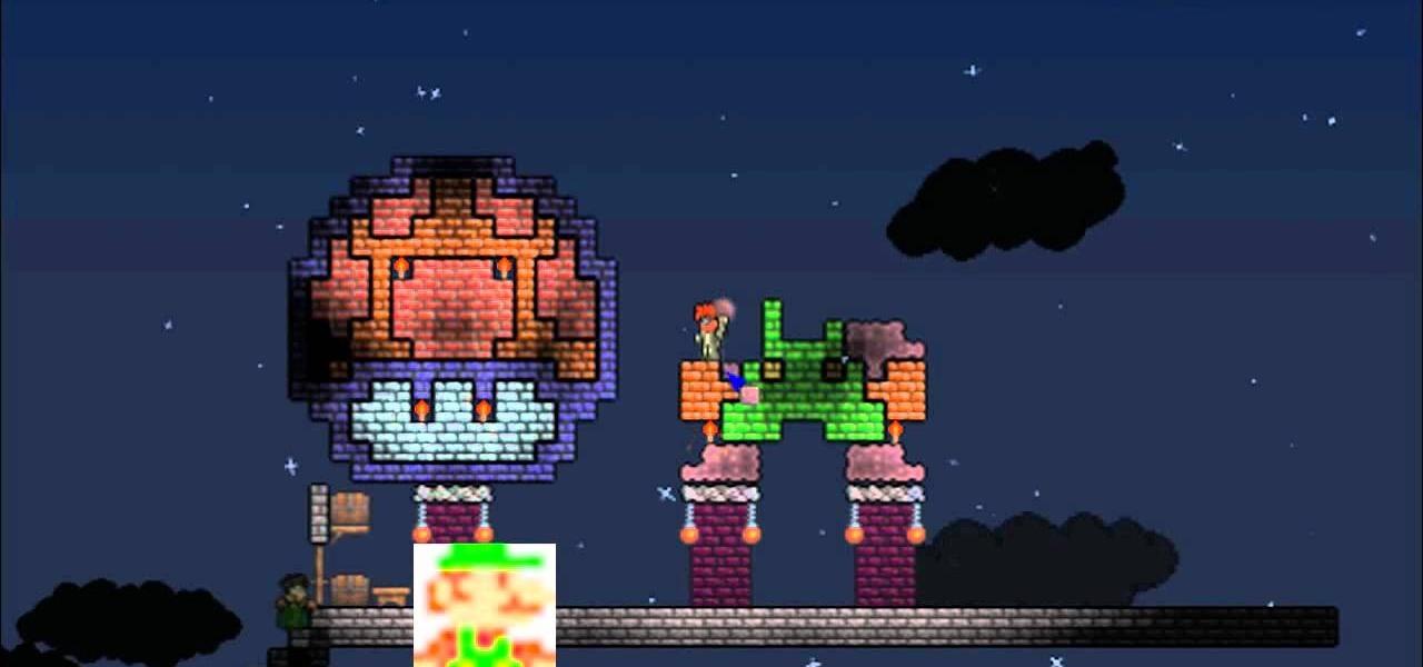 Drawn pixel art mario level To PC art Make Games