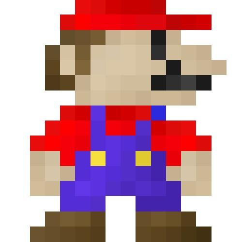 Drawn pixel art mario level Pixel Blog Minecraft  16x16