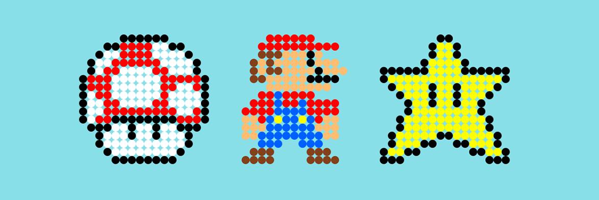 Drawn pixel art mario level Art Boing / art Create