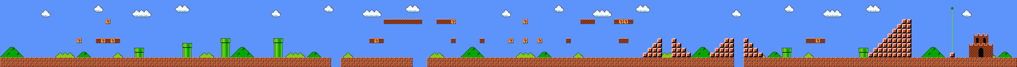 Drawn pixel art mario level 1 episode image: 2: map