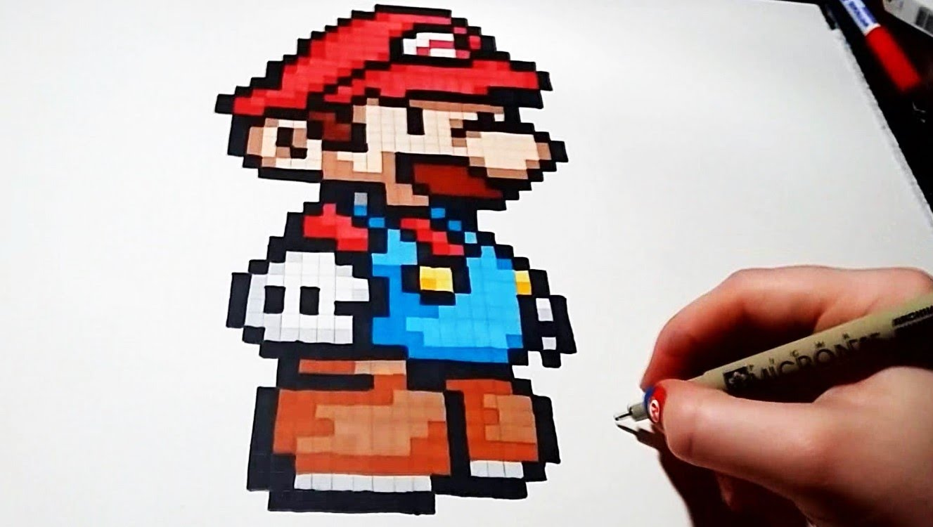 Drawn pixel art mario level PixyArt? Step by Unsubscribe from