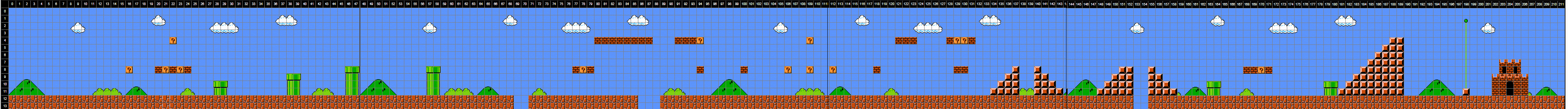 Drawn pixel art mario level Display golf with Pixel 2: