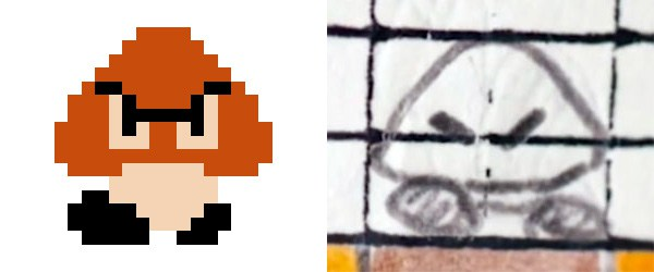 Drawn pixel art mario level Callvention and Mario Behind Drawings