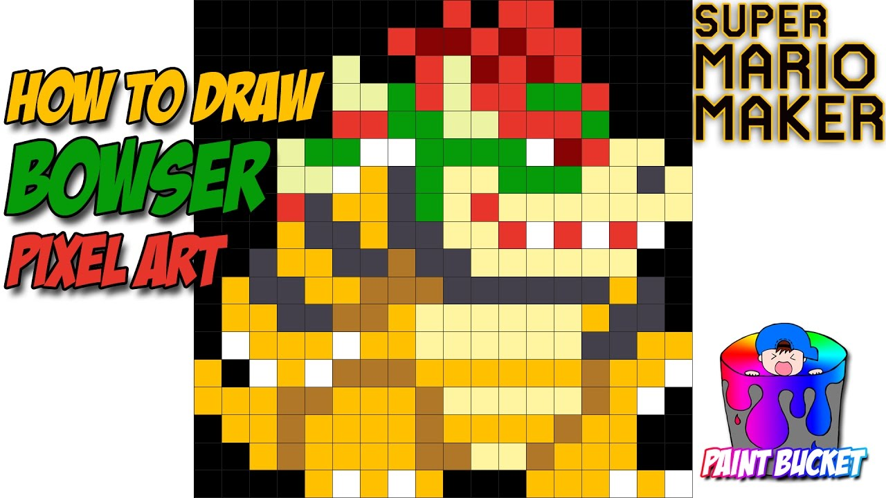 Drawn pixel art mario level Mario How Draw to Super