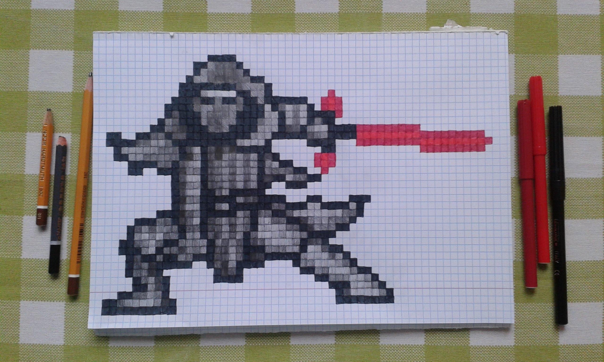Drawn pixel art minecraft Pixel Speed Awakens Pixel Wars