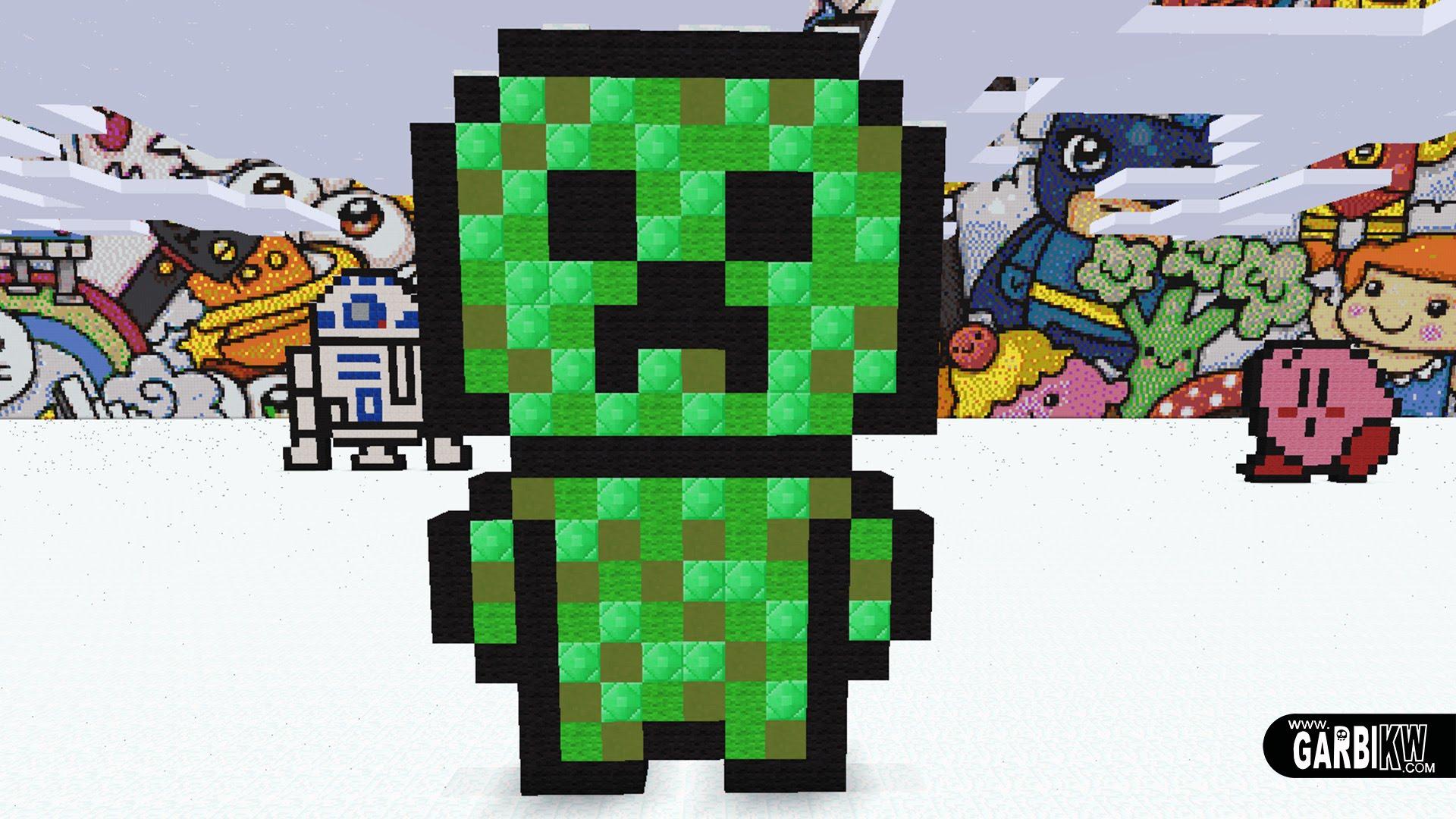 Drawn pug pixel art To KW Minecraft by YouTube