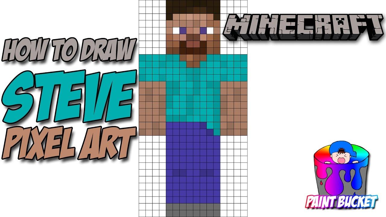 Drawn pixel art minecraft Pixel Steve Characters Art to