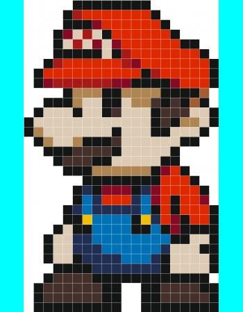 Drawn pixel art mini · plombier Super Stickaz 64