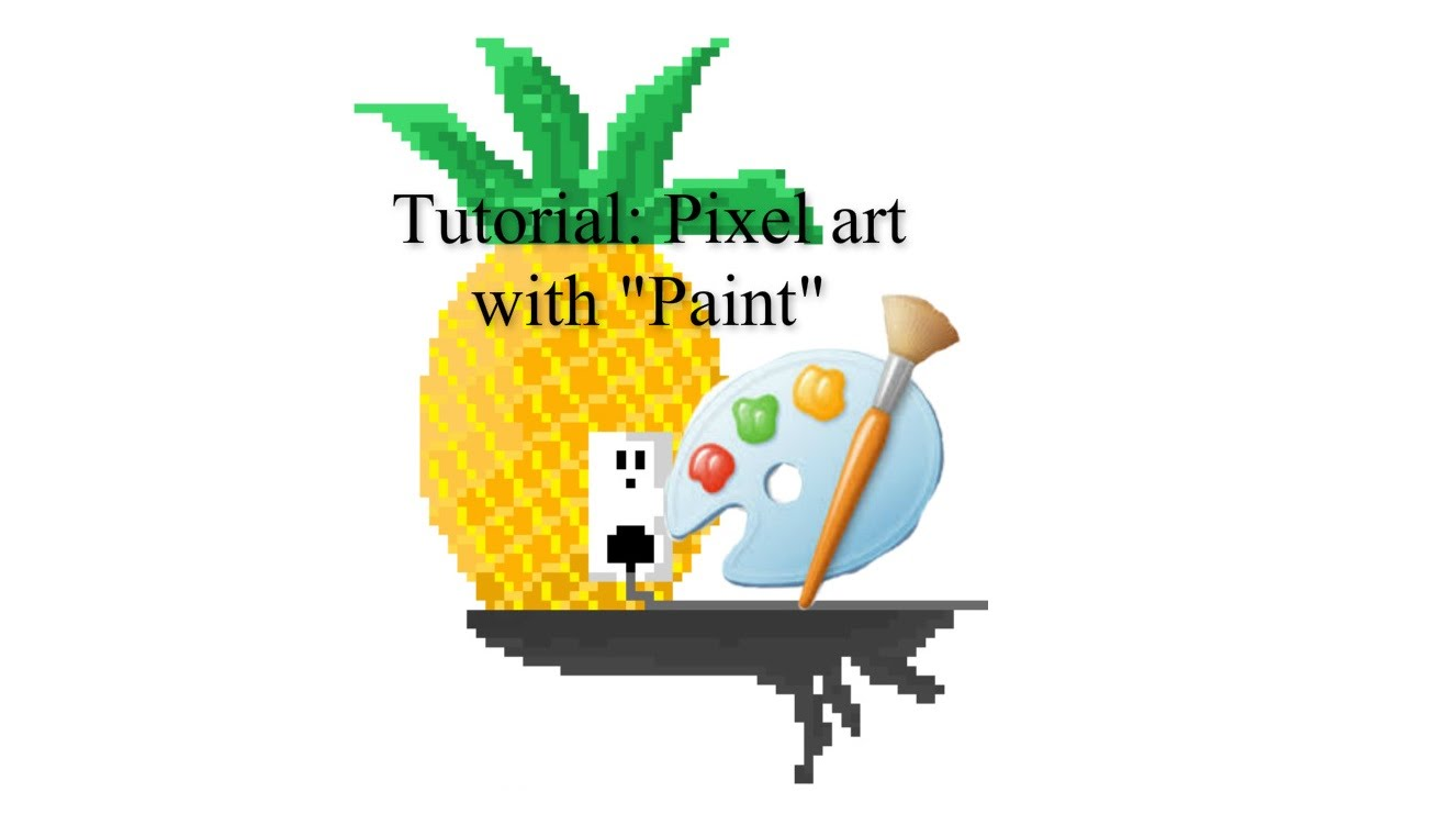 Drawn pixel art ms paint To with art paint How
