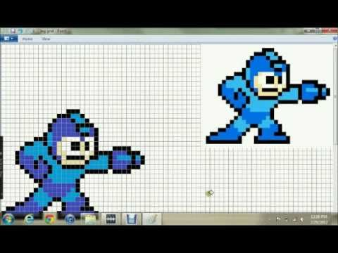 Drawn pixel art ms paint To pixel art paint windows