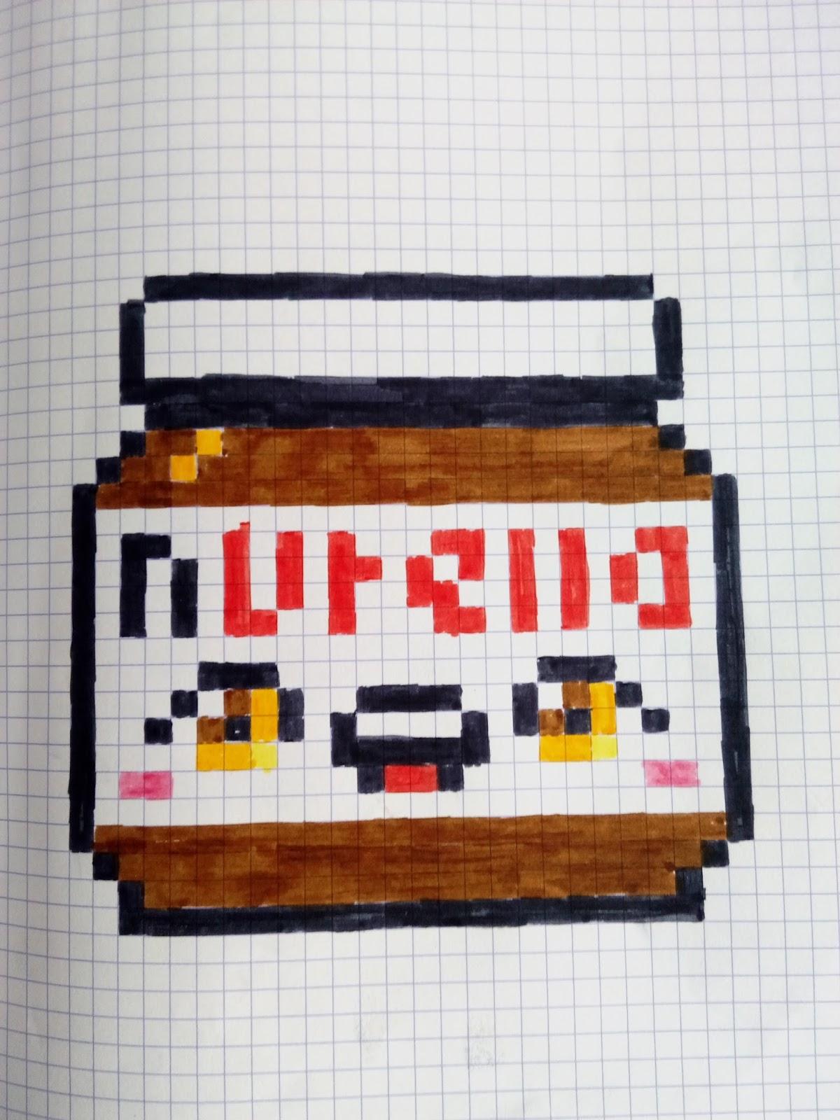 Drawn pixel art nutella #11