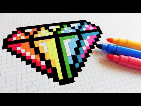 Drawn pixel art nutella #9