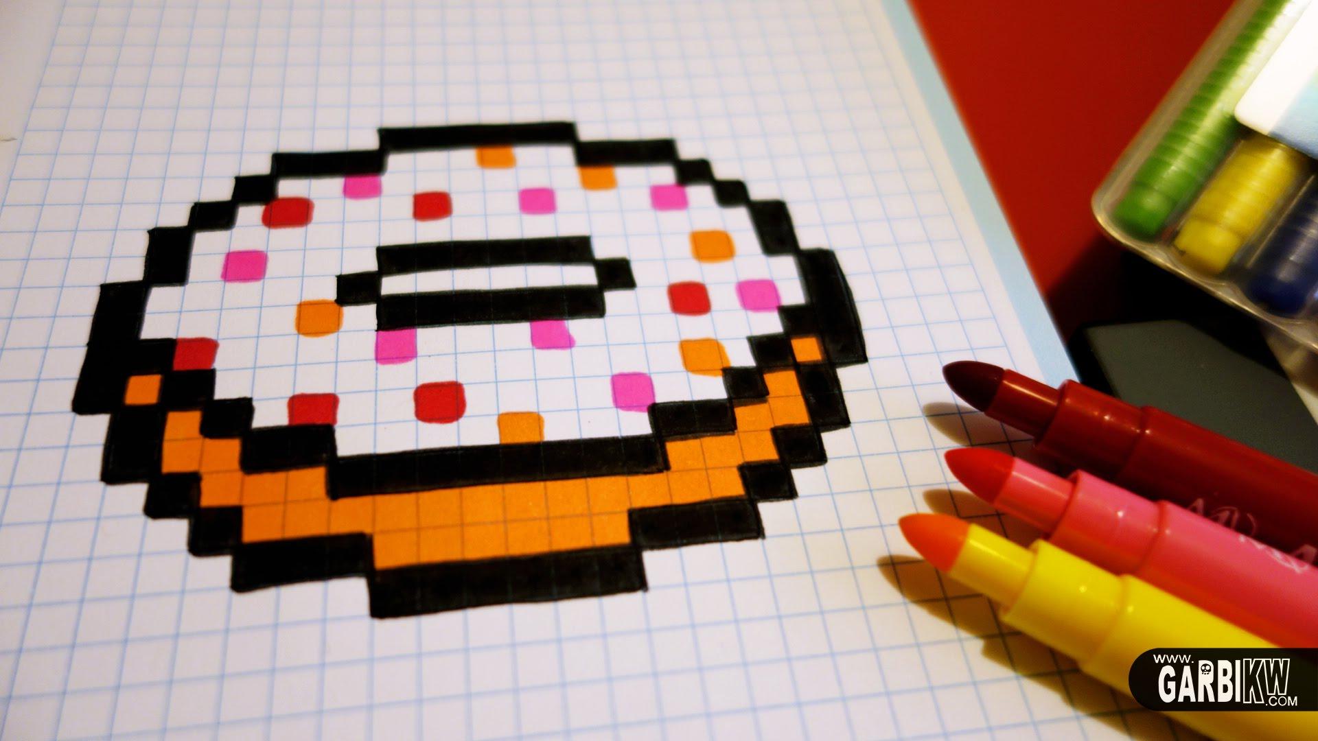 Drawn pixel art nutella #2