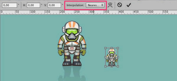 Drawn pixel art object Down to Character Animated Create