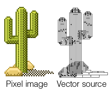 Drawn pixel art object Ways a you square specific