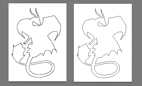 Drawn pixel art outline Adobe comparison in outline Photoshop