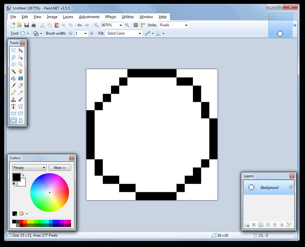 Drawn pixel art paint net #9