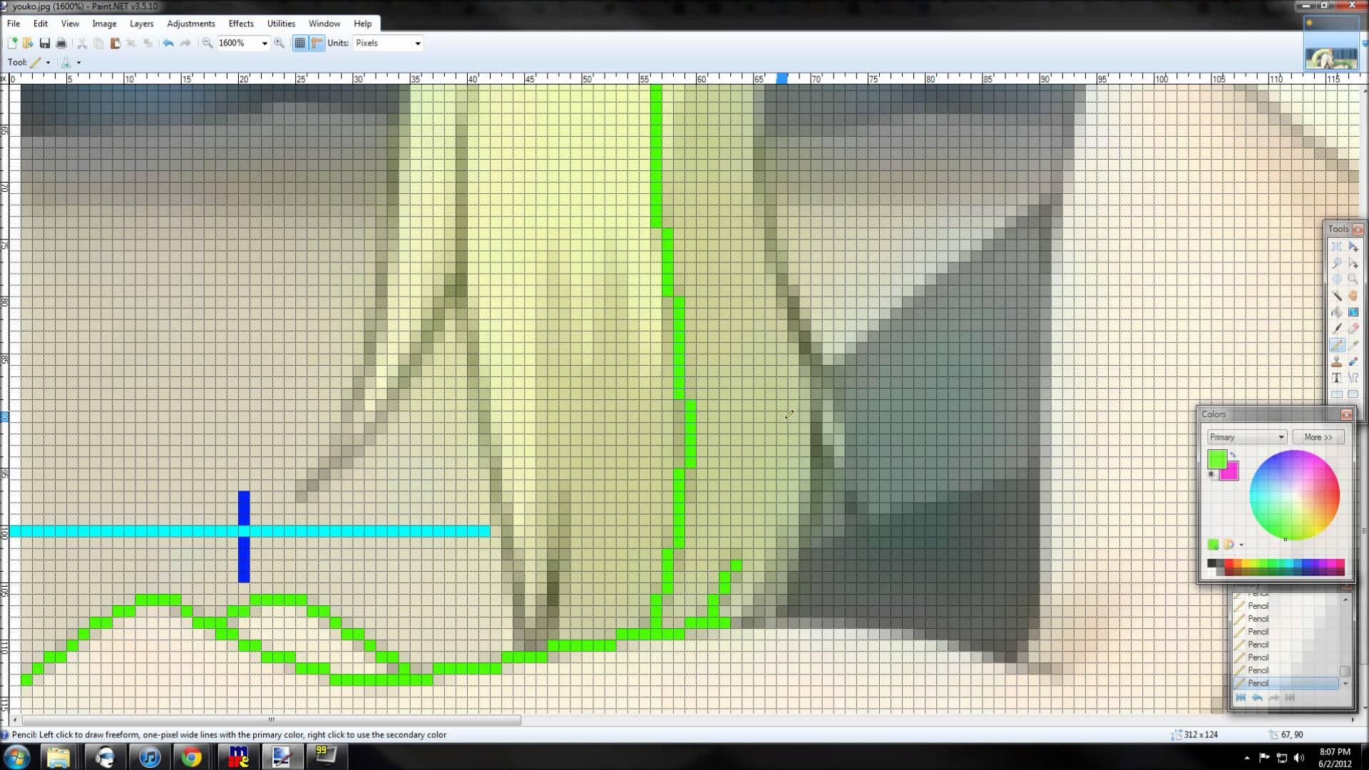 Drawn pixel art paint net #3