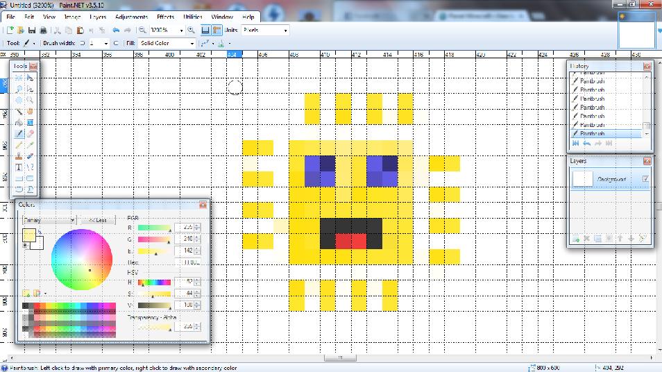 Drawn pixel art paint net #1
