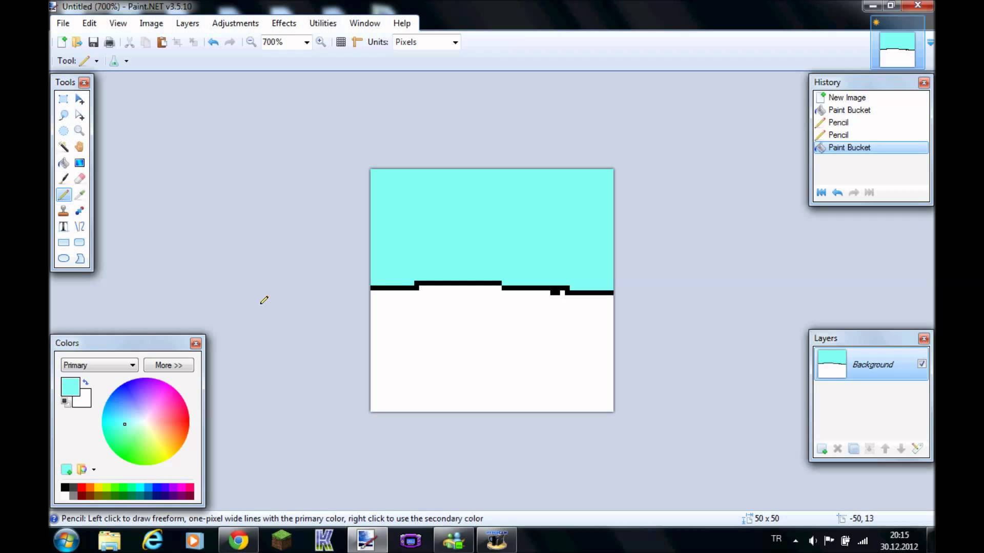 Drawn pixel art paint net #4