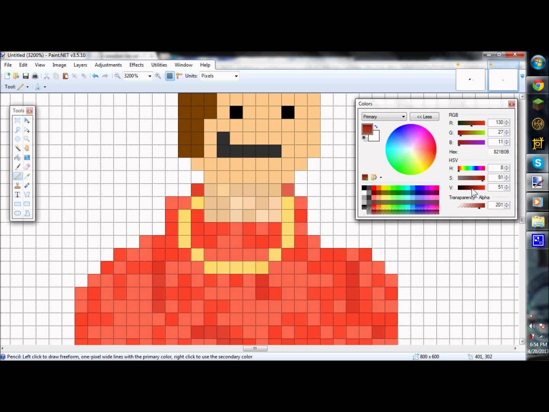 Drawn pixel art paint net #6