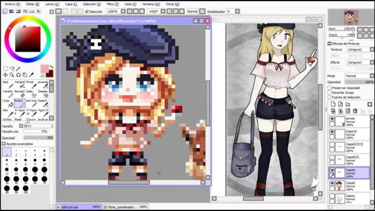 Drawn pixel art paint tool sai Tutorial  YouTube Animation Sai