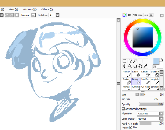 Drawn pixel art paint tool sai A already You sai an