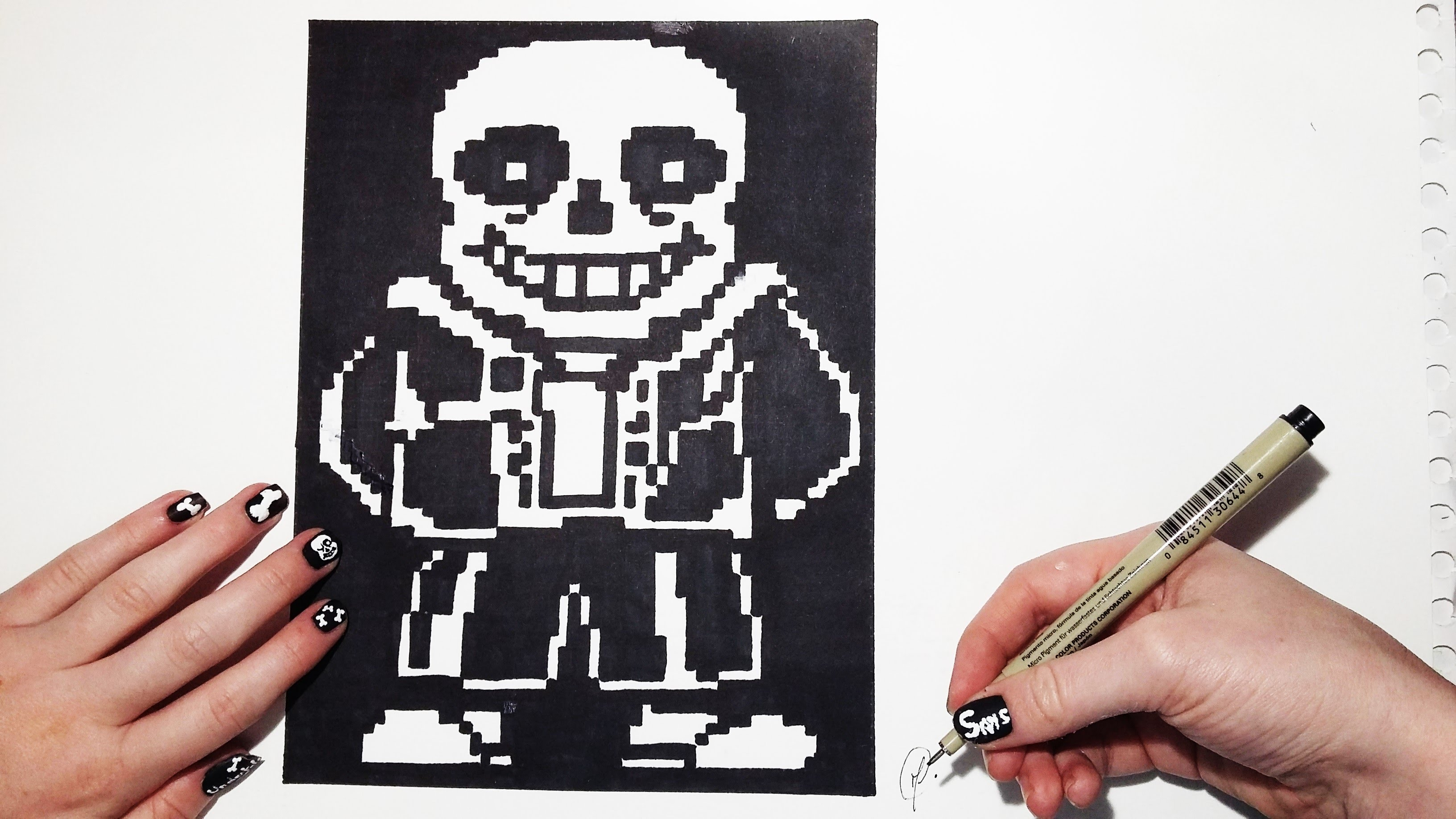 Drawn pixel art pencil #11