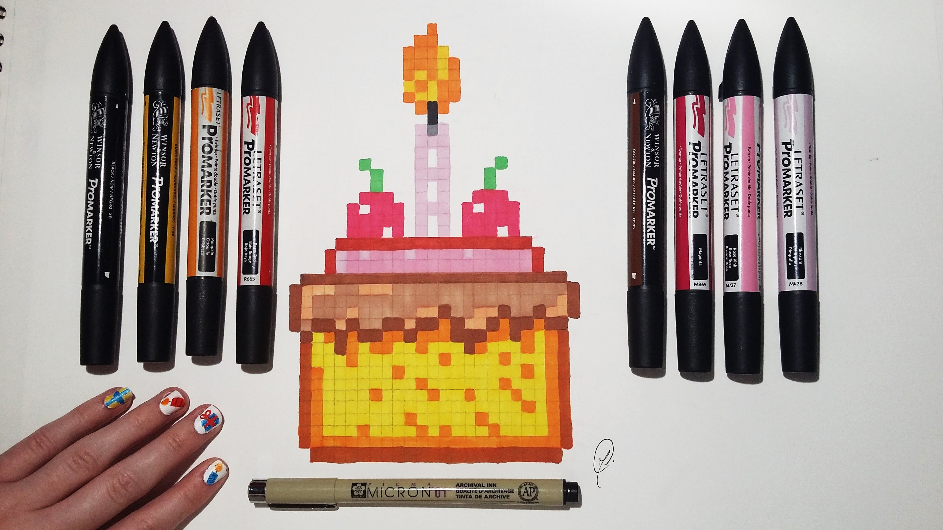 Drawn pixel art pencil #13