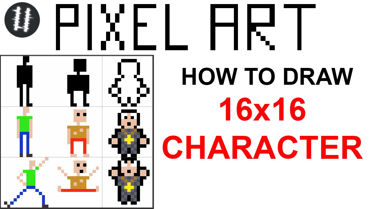 Drawn pixel art pixal Character 16x16 Pixel Draw To