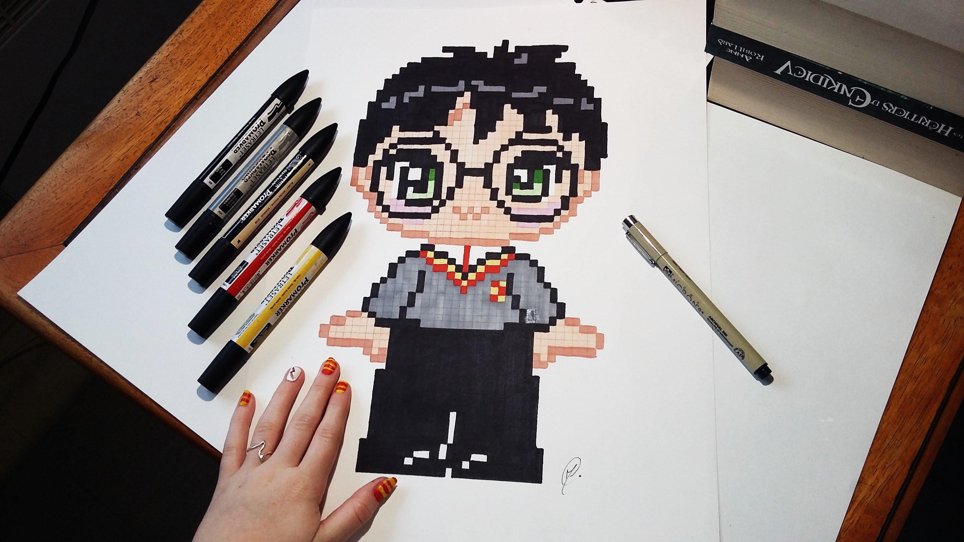 Drawn pixel art pixal Art Drawing Cute Speed