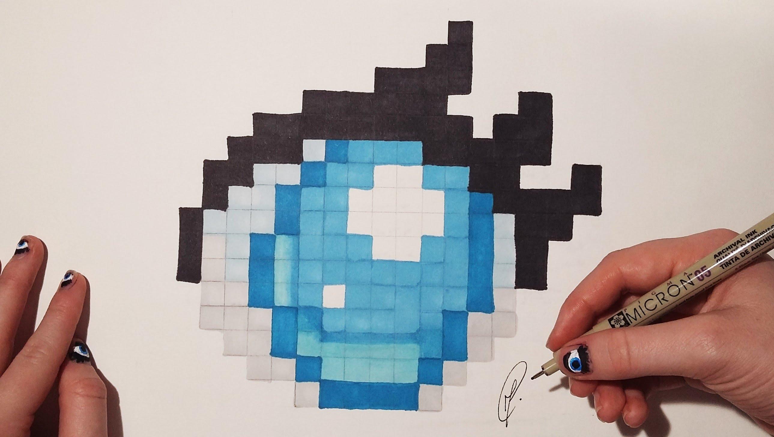 Drawn pixel art pixel eye Manga Eye Pixel Pixel draw