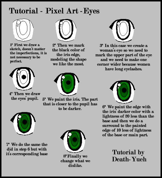 Drawn pixel art pixel eye Pixel Death Yueh Eyes @deviantART