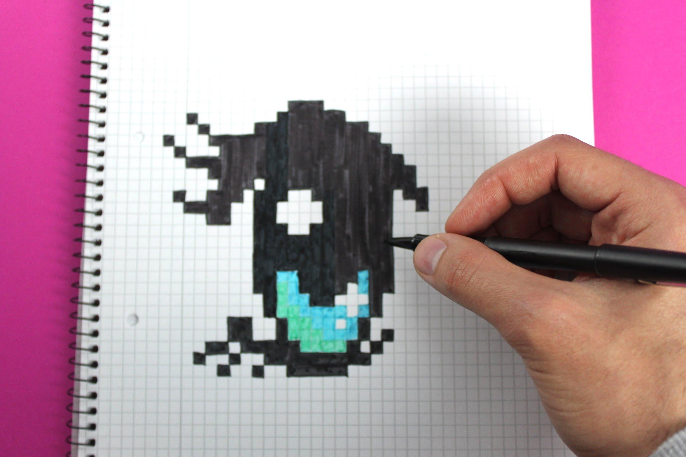 Drawn pixel art pixel eye Art draw a to Handmade