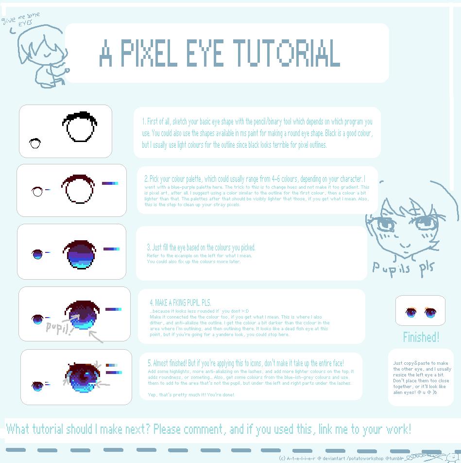 Drawn pixel art pixel eye R by com i A